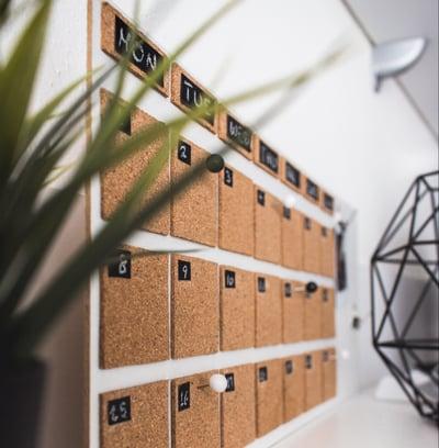 develop a content calendar when blogging for business