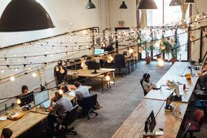 an office of employees in inbound marketing sector